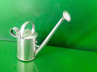Sampson Mordan Victorian Novelty English Sterling Silver Watering Can Inkwell