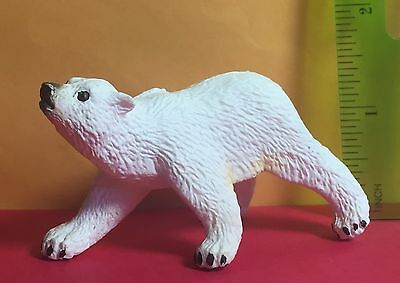Safari Ltd. Toy PVC Figure Polar Bear Cub Baby Wild Figurine Plastic Animal