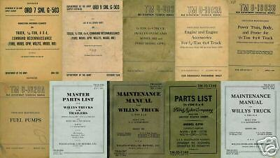 10 Manual SET Willys Overland Jeep MB Ford GPW
