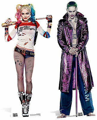 Suicide Squad Harley Quinn & The Joker Lifesize Cardboard Cutout Standup 2 Pack!