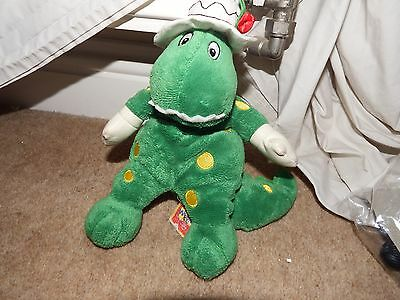 "RARE The wiggles Dorothy dinosaur soft plush figure toy 10"" beanie character"