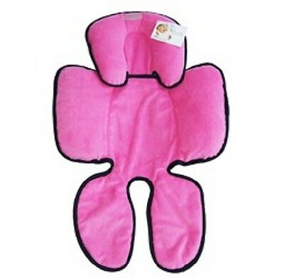 New Baby Pram Car seat Hug A Babe Snuzzler Padded Headsupport Washable Pink