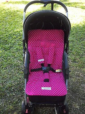 *HOT PINK,STARS*universal stroller,pram,car seat liner set *NEW*