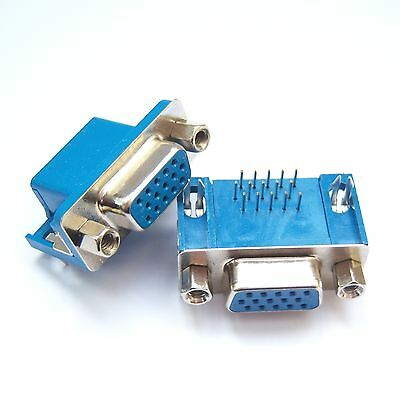 10 PCS DB15 D-Sub High Density Connector Female VGA Right Angle Crimp Type D12