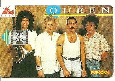 Rare / Carte Telephonique - Freddie Mercury : Queen / Phonecard Telephone Card
