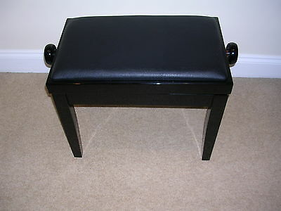 Adjustable  Piano Stool. High Gloss Black