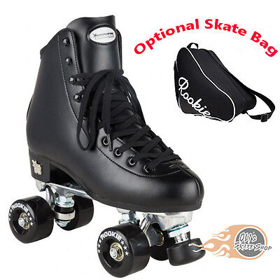 Rookie Classic II Quad Roller Skates Black - Optional Skate Bag