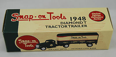 Snap On  1948 Diamond T Tractor Trailer (Ertlf804) 1/43 Coin Bank New In Box