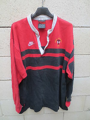 VINTAGE Maillot rugby STADE TOULOUSAIN 1996 1997 coton Toulouse shirt NIKE L
