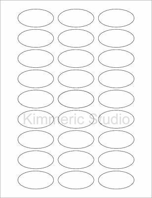 BLANK Oval Labels 25 WHITE SHEETS X 27 PER PAGE = 675 LABELS