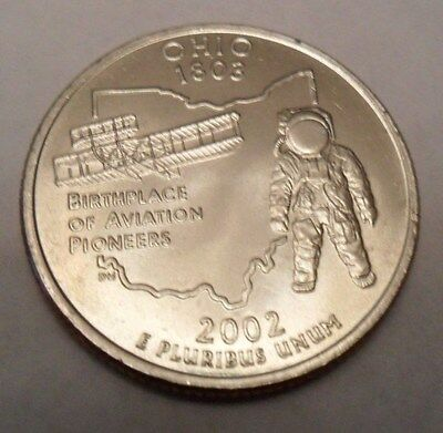 2002 D Ohio State Quarter  **FREE SHIPPING**