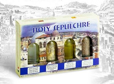 Blessing Set from Holy Land with Holy Oil Pure Water Earth Insence Israel Gift