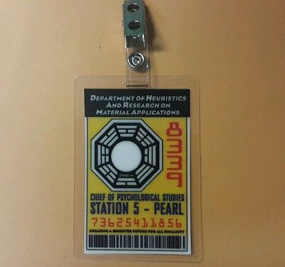 Lost TV Series ID Badge -Chief Of Psychological Pearl cosplay prop costume