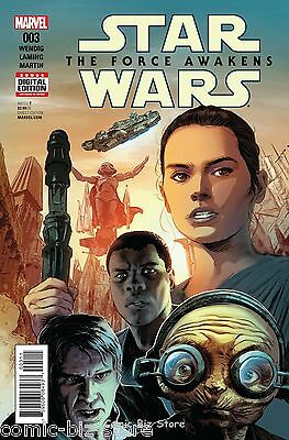 Star Wars Force Awakens Adaptation #3 (2016) Marvel 1St Print Bagged & Boarded