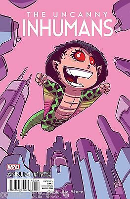 Uncanny Inhumans Annual #1 (2016) 1St Printing Skottie Young Baby Variant Cover
