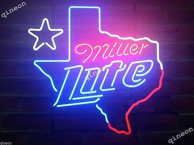 2016 New Style Miller Lite Texas Beer Map Outline Star Home Bar Neon Sign Light
