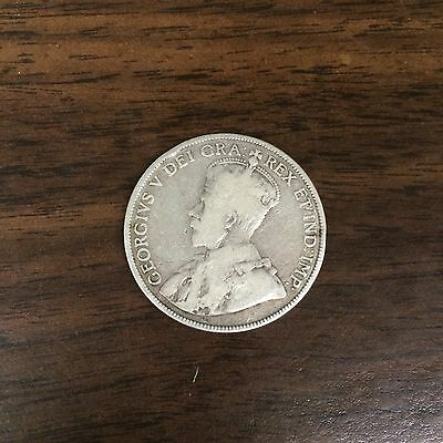 1913 Canada Silver 50 Cents Foreign Coin Nice Condition