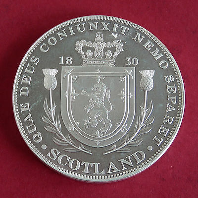SCOTLAND 1830 WILLIAM IV SILVER PROOF PATTERN CROWN - MINTAGE 100 - coa