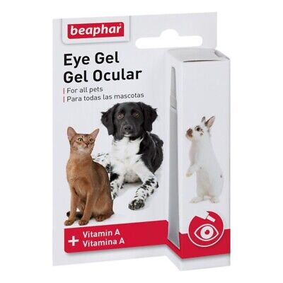 Beaphar Eye Gel for dry eyes 5ml contains Vitamin A FREE P&P