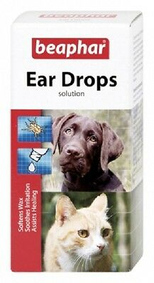 Beaphar Ear Drops A licensed veterinary medicine against ear-mites FREE P&P