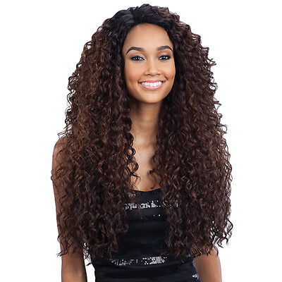 Freetress Equal Synthetic Hair Lace Deep Invisible L Part Lace Front Wig KITRON