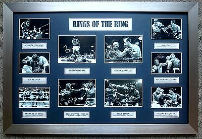 """Kings of the Ring'' Muhammad Ali Mike Tyson Boxing Framed Signed Photo Collage."