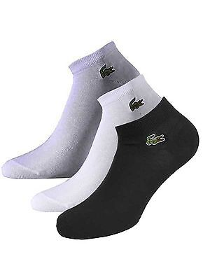 Lacoste Ankle Socks Croc Logo Size Us8.5-12 New With Tags