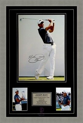 Jason Day 2015 Youngest Australian No.1 Golfer Framed Signed Photo Collage.