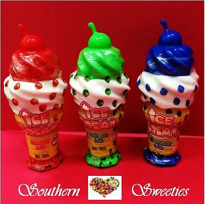 Cosmic Ice Cream Cones 12Pack Oozy Lolly Sweet Candy Red Green Blue Tops Lollies