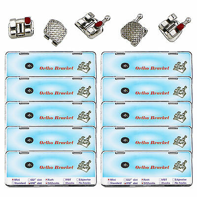 20Boxes/400Pcs Dental Orthodontic Metal Bracket Mini Roth 018 Slot 3 4 5 Hooks