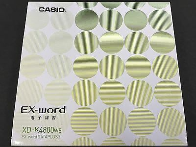 New Casio Electronic Dictionary EX-word XD-K4800WE White Learn Japanese Japan
