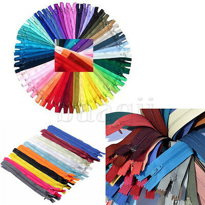 Lots of 9Inch Nylon Coil Invisible Sewing Zipper Tailor Sewer Craft Clothes DA