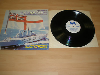 "The Band Of H.m. Royal Marines 12"" Vinyl Lp Capt. Ted Whealing Mm 0621 Ex """