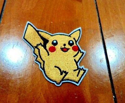 New Cute Pikachu Pokemon Go Embroidered Cloth Patch Applique Badge Iron Sew On