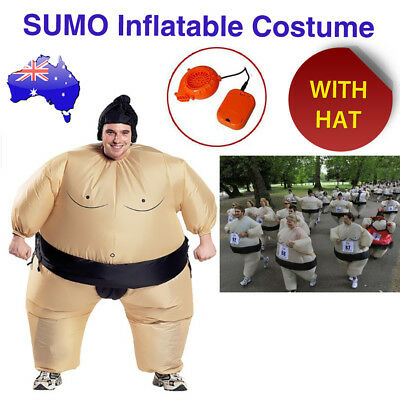 Unisex Inflatable Wrestler Sumo Suits Adult Costume Fancy Dress Blow Up Party