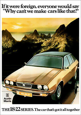 Wolseley 18/22 Princess Austin Morris Retro A3 Poster Print From 70's Advert