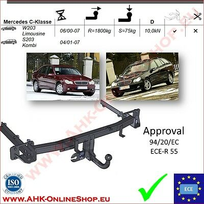 TOWBAR Mercedes C-Class W203/S203 Saloon/Estate 2000-2007 Swan Neck TOP Quality