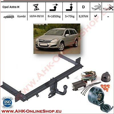TOWBAR with Electrics 12N (7pin) Opel Astra H Estate 2004-2010 Swan Neck