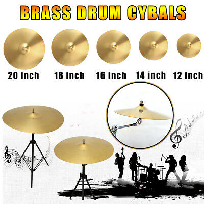 "12"" 14"" 16"" 18"" 20"" Splash/Hi-hat/Crash/Ride Cymbal Pack Stand Drummer Drum Kit"