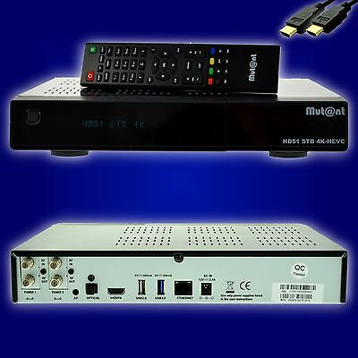Mut@nt Mutant ULTRA HD HD51 4K-BOX E2 Linux Receiver 2x DVB-S2 + WLAN + HDMI