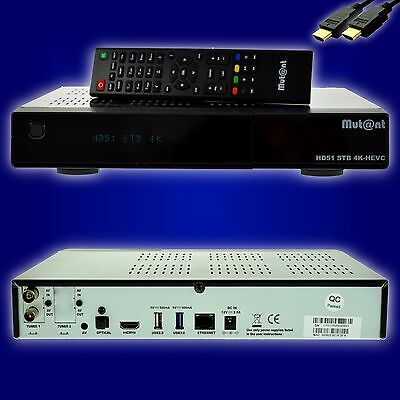 Mut@nt Mutant ULTRA HD HD51 4K BOX E2 Linux Receiver 1x DVB-C/T2  + WLAN + HDMI