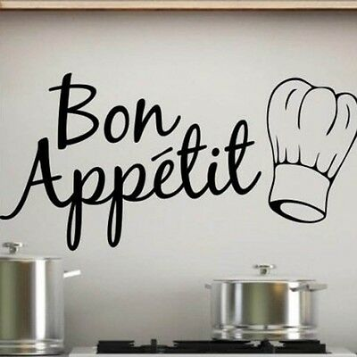 BON APPETIT Creative Wall Art Decal Home Sticker Kitchen Dining Room Mural Decor
