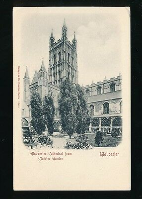 Gloucestershire GLOUCESTER Cathedral Cloister Carden c1902 u/b PPC Stengel 19410