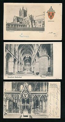 Herefordshire HEREFORD Cathedral x5 c1902 u/b PPCs