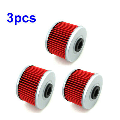 3x Oil Filter For Honda Fourman TRX350 TRX400 TRX450S TRX500TM TRX500FE 4x4