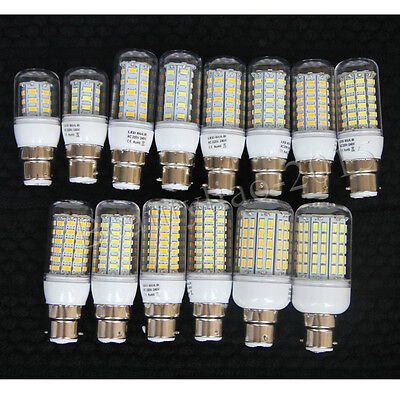 Bright E27 E14 B22 Bayonet Screw ES BC 5730/4014 SMD LED Corn Light Bulb Lamp