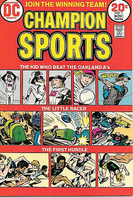 Champion Sports Comic Book #1, DC Comics 1973 VERY FINE-