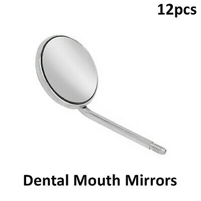 12 Dental Mouth Mirrors Examination Instrument Front Surface