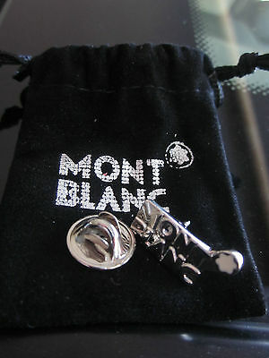 Montblanc Logo Lapel Pin With Pouch