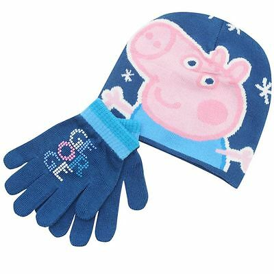 Peppa Pig Wutz ** George ** Mütze Handschuh Set Winter Kinder Neuware